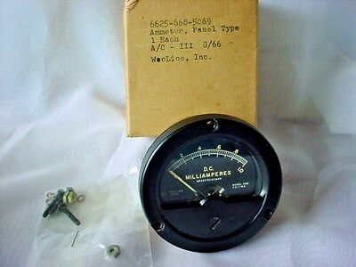 Vtg Wacline Milliamperes 0-1.0 DC Meter Model ADD F2131 MR26F001DCMAR NIB NOS
