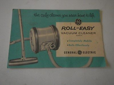General Electric Roll-Easy vacuum cleaner owners manual