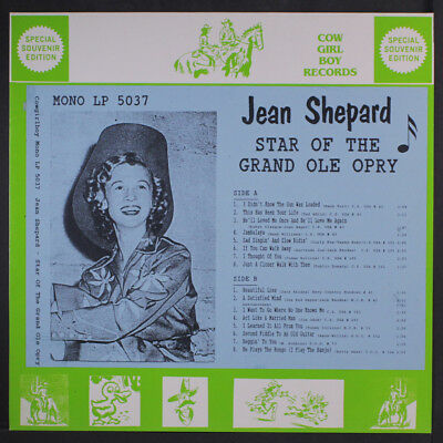 JEAN SHEPARD: Star Of The Grand Ole Opry LP (Germany) Country
