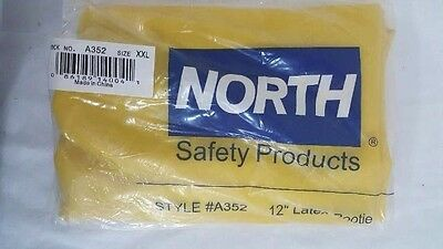 North Safety Products Hazmat Xxl 2Xl Boot Cover Shoe Yellow Latex Rubber A352