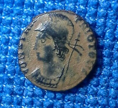 Constantinople City Commemorative Ancient Coin Helmeted Victory Xf Sharp Bronze