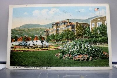 Colorado CO Woodmen MW of A Sanatorium Postcard Old Vintage Card View Standard
