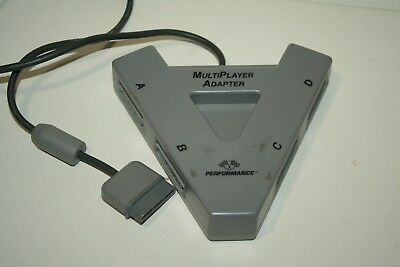 PERFORMANCE MULTI PLAYER ADAPTER For PLAYSTATION 1, PS1, 4 PLAYERS