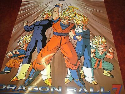 Dragon Ball Z Super GT Kai DBZ Poster Vintage Goku Goten Gohan Vegeta Trunks
