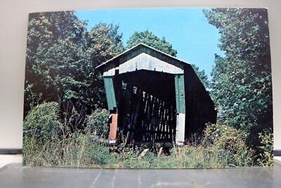 Indiana IN DeKalb County Cedar Chapel Bridge Postcard Old Vintage Card View Post