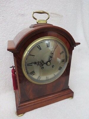 Good Quality Antique Japy Mahogany Striking Bracket Clock
