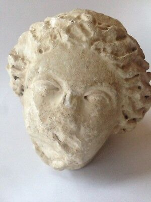Genuine Ancient Greek Marble Sculpture Woman's Head Beautiful - Rare Antiquity