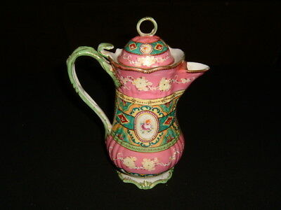 Vintage Hand Painted Nippon Moriage 9 1/2 inch Teapot Great Color