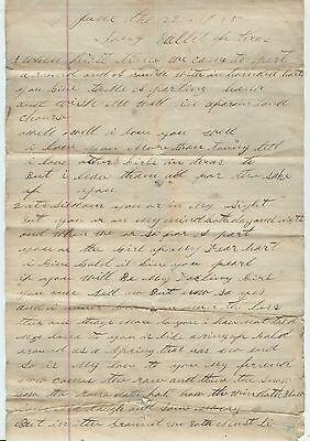 1895 TEXAS MANUSCRIPT declaration of eternal love @ Mr. Marshall barely literate