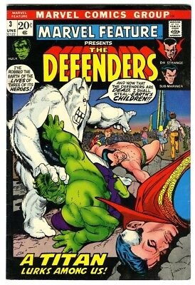 Marvel Feature Defenders #3 (1972) Fine Marvel Comics