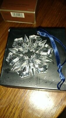 Annual Swarovski Crystal Xmas Ornament Snowflake 1999 Signed & Dated No Box Exc