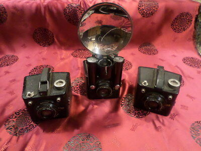 lot of 3 brownie flash six-20 cameras