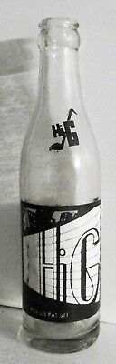 HI-G 8oz ACL Soda Pop Bottle w Trumpet Player High Grade Bottling Co Norwalk CT