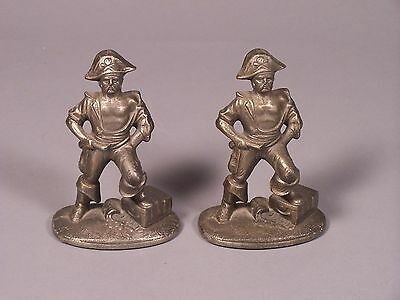 Vintage Pirate & Treasure Chest Book Ends Cast Iron
