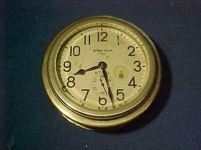 1930s WALTHAM 8 Day AUTOMOBILE Dashboard CLOCK