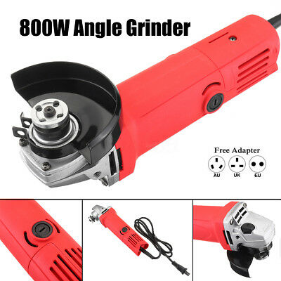 800W 100mm Angle Grinder Cutting Polishing Cutter Tool Corded Wheel Guard Wrench