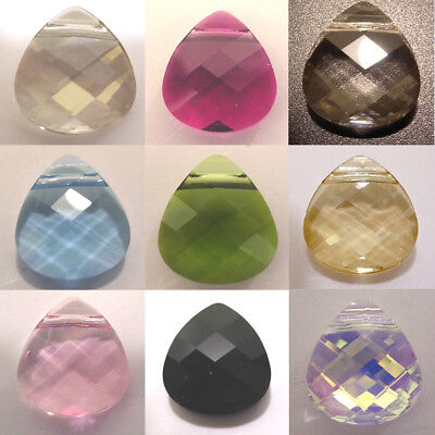 Genuine SWAROVSKI CRYSTAL #6012 FLAT BRIOLETTE PENDANT BEAD ~ Many Color & Size