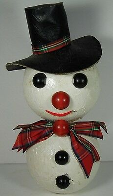 OLD ANTIQUE VINTAGE 1960s FOLK ART FROSTY THE SNOWMAN XMAS CHRISTMAS STATUE