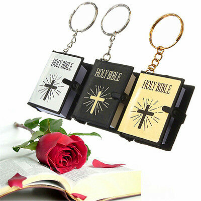Mini Bible Keychain Religious Christian Gifts Jesus Keyring For Pray 4COLOURS