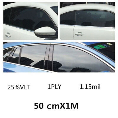 25% VLT Light Car Home Glass Window TINT Film and Shade Vinyl Roll 50cm x 100cm