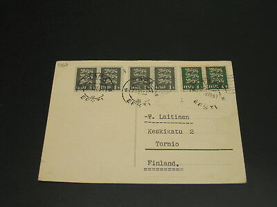 Estonia 1931 postcard to Finland *4367-1