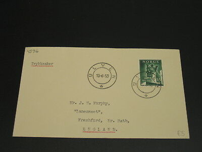 Norway 1950 Ulven cover to UK *4596