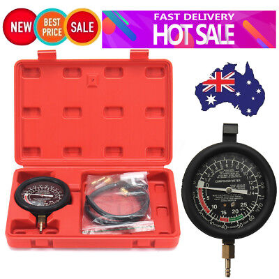 2018 AU Engine Vacuum & Fuel Pump Pressure Tester Kit Gauge Leak Diagnostic Tool