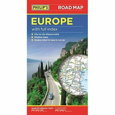 Philip's Europe Road Map - Paperback NEW  2015-03-02