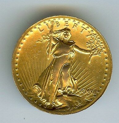 1907 Saint Gaudens Hi Relief Wire Rim Gold $20 Nearly Uncirculated  Very Rare!