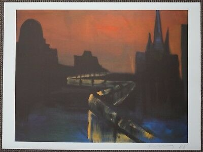 """Rainer Fetting """"Berlin"""" Hand Signed Offset Lithograph"""