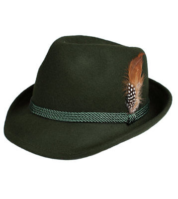 Schuhmacher Traditional Costume Hat HT750 Fir with Feather
