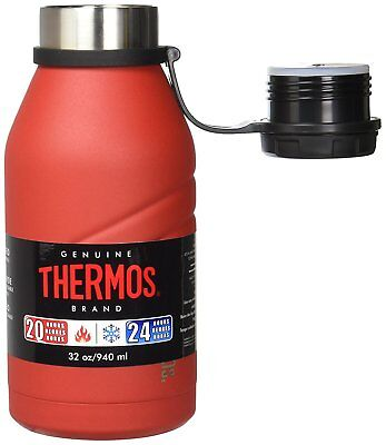 Thermos Element5 Vacuum Insulated Beverage Bottle with Screw Top Lid (32 oz/Red)