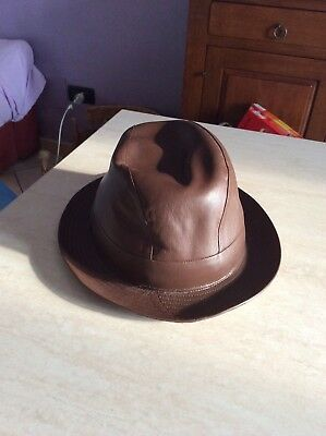 Rarissimo cappello pelle pierpo s hat windsor s star english anni 70 vintage