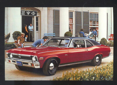 1972 Chevrolet Nova Super Sport Ss Car Dealer Advertising Postcard Copy '72