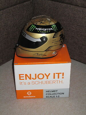 M. Schumacher Mercedes GP Formel 1 Spa 2011 Helm Gold Edition 1:2 Schuberth  NEU
