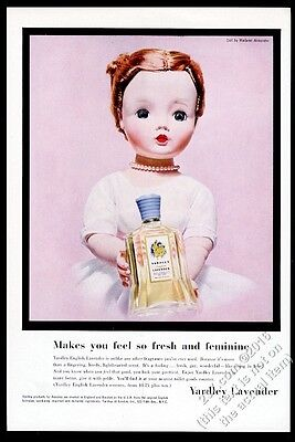 1956 Madame Alexander Cissy doll photo Yardley Lavender perfume vintage print ad