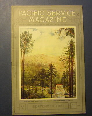 Old 1921 PG&E - PACIFIC Gas & Electric SERVICE MAGAZINE - PIT RIVER - Sept.