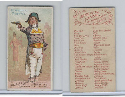 N3 Allen & Ginter, Arms of all Nations, 1887, Dueling Pistol