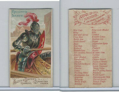 N3 Allen & Ginter, Arms of all Nations, 1887, Knights Lance