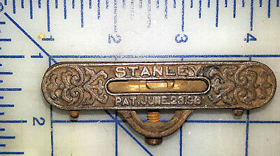 ANTIQUE STANLEY CAST IRON and BRASS POCKET Spirit LEVEL TOOL PAT. JUNE 23 1896