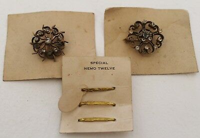 Lot of Vintage Antique Victorian Costume Jewelry Pins NOS Never Worn