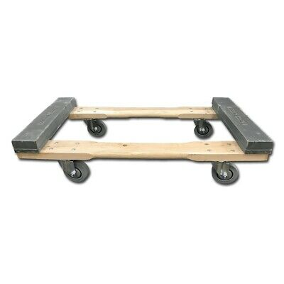 "4 Wheel Dolly ""Chicago Style"" with 3.5"" deluxe non marring casters"
