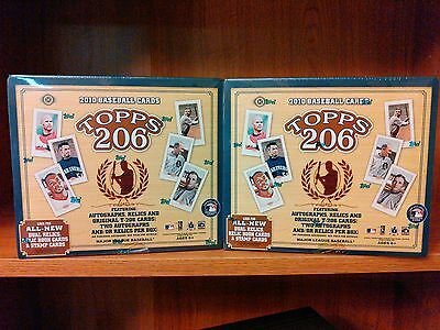 Lot of (2) TWO 2010 Topps 206 Baseball Factory Sealed HOBBY Box Boxes