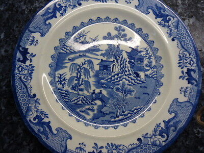 An early  Masons Ironstone Blue and White Plate