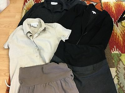 LOT of 4 Maternity Work Outfit Clothes sz Med/Lg - Pea in the Pod Motherhood C6