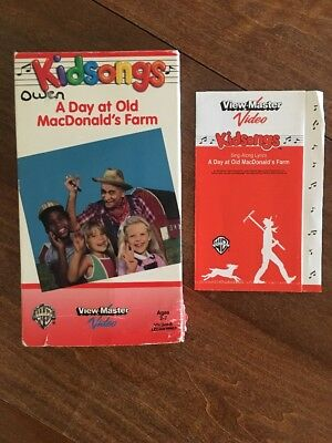 Kidsongs Kid Songs VHS Video Tape A Day at Old Macdonalds Farm View Master