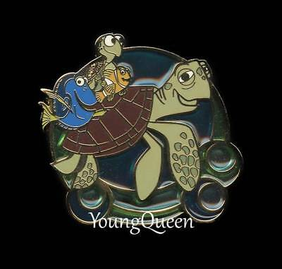 Disney Finding Nemo Dory Marlin Squirt Crush Turtle Ride Stain Glass Pin