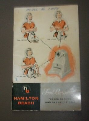 Food Converter booklet- Hamilton Beach Co. A Division of Scovill- Racine, WI
