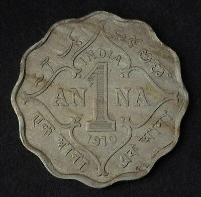India 1910-B Anna Km#504  Gem+ Uncirculated