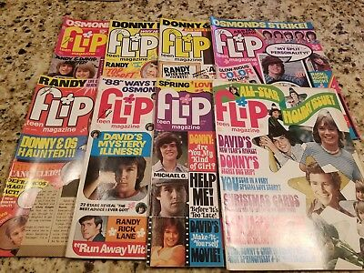 Vintage Lot Of 8 Teen Flip Magazine 1972-1974 Donny Osmond/david Cassidy